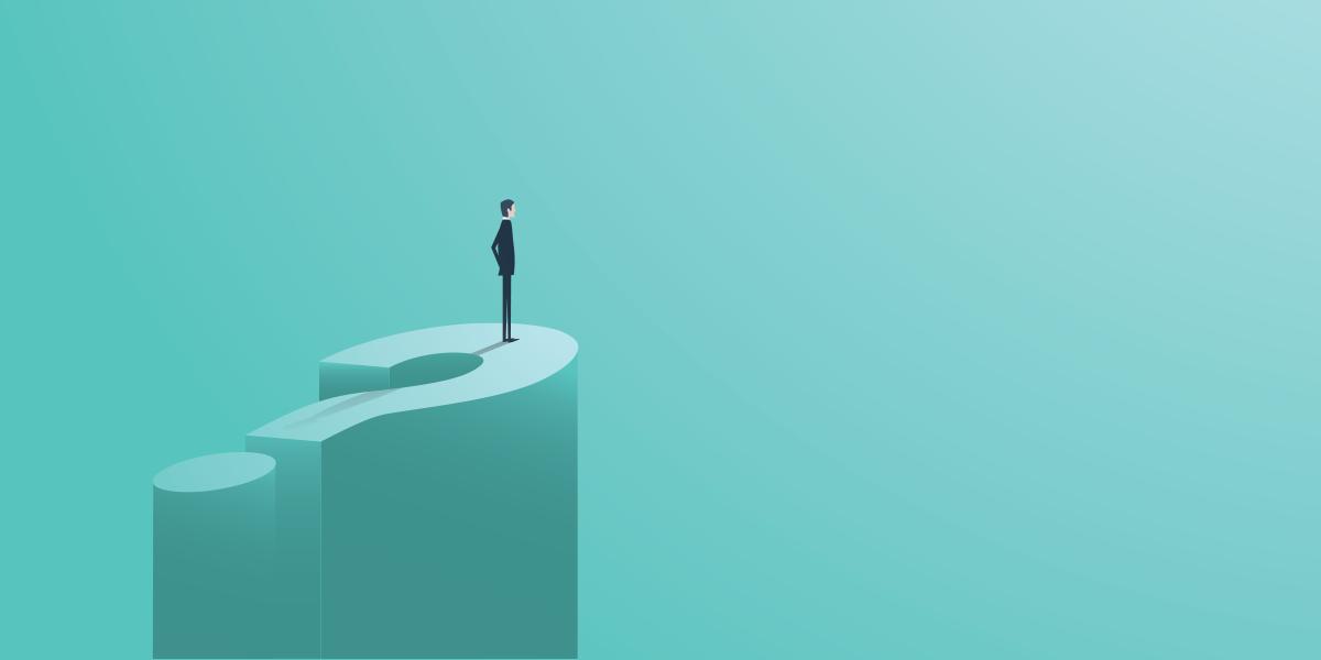 Homme face à des choix de carrière dans l'incertitude